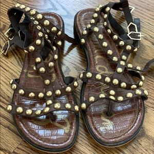 Same Edelman studded sandals